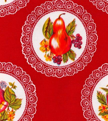 Doily Red Oilcloth By The Yard