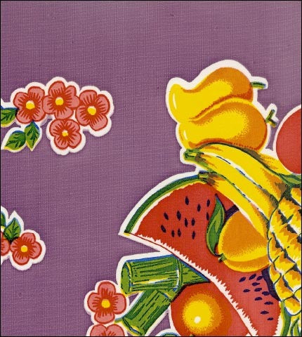 Fruit Basket Purple Oilcloth