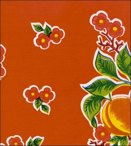 Fruit Basket Red Oilcloth