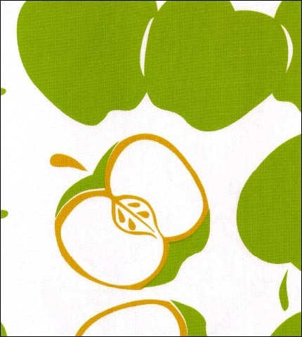 Mod Apple Green Oilcloth