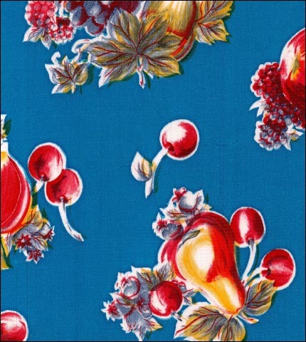 Retro Blue Oilcloth
