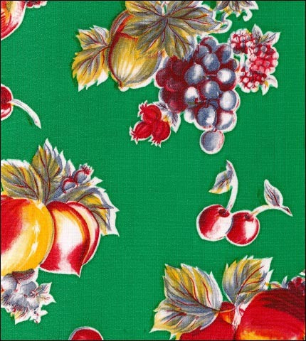 Retro Green Oilcloth Fabric