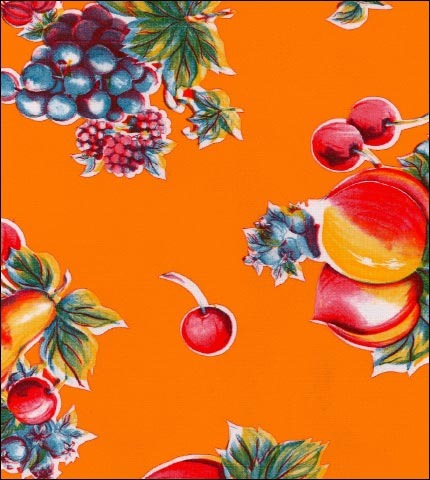 Retro Orange Oilcloth