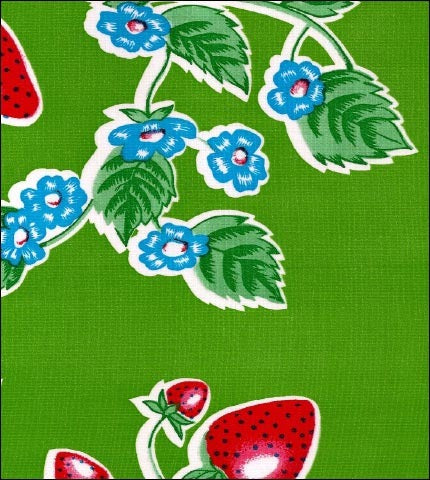 Strawberry Green Oilcloth