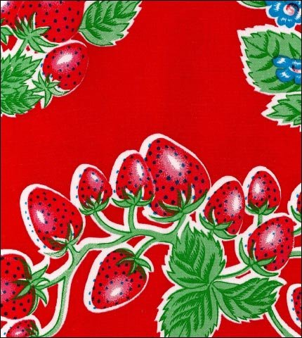 Strawberry Red Oilcloth Fabric