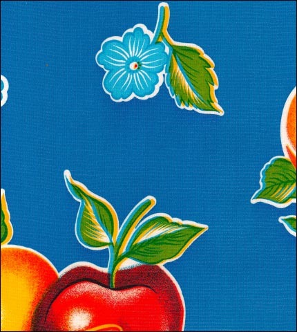 Mixed Fruit Blue Oilcloth