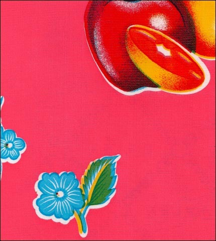 Tropical Fruit Pink Oilcloth