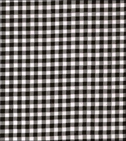 "55"" Wide Gingham - Black Oilcloth Fabric"