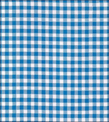 "55"" Wide Gingham - Blue Oilcloth"