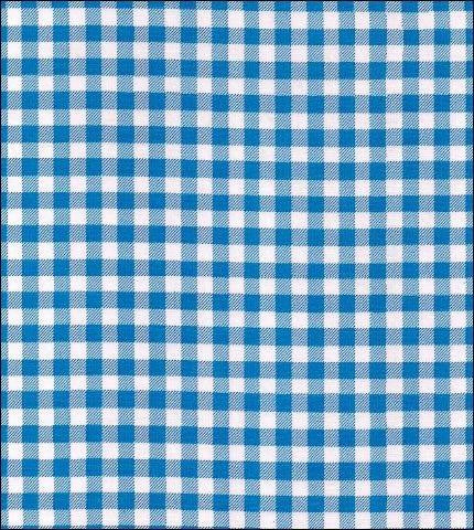 Gingham - Blue Oilcloth Fabric Roll