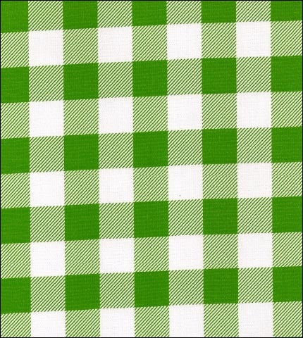 Gingham . Large Lime Oilcloth Fabric