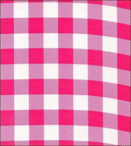 Gingham . Large Pink Oilcloth Roll