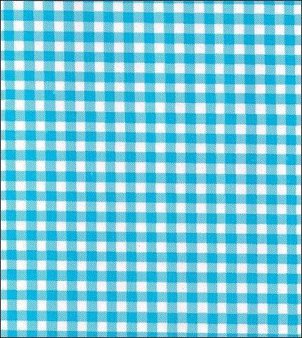 Gingham - Light Blue Oilcloth Fabric Roll