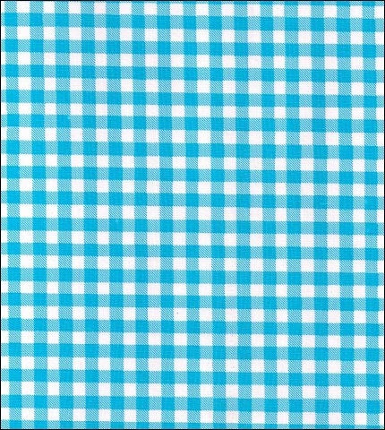 Gingham - Light Blue Oilcloth Fabric