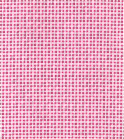 Gingham . Mini Pink Oilcloth Fabric