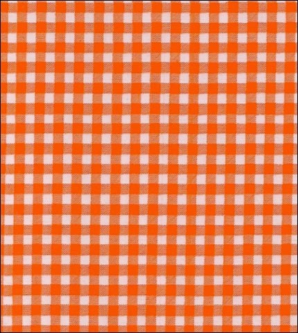Gingham - Orange Oilcloth Fabric