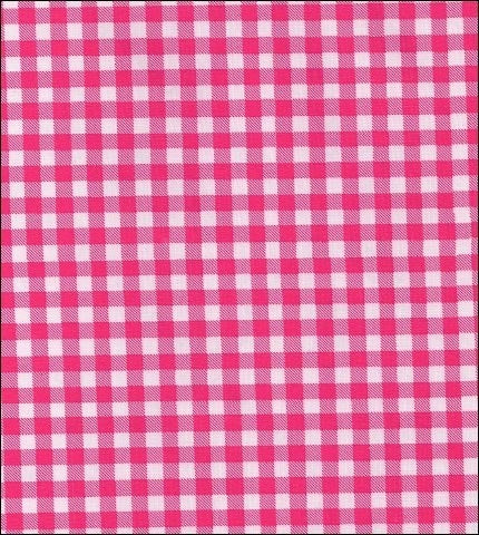 "55"" Wide Gingham - Pink Oilcloth"