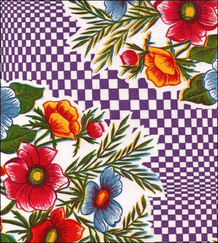 Optical Purple Oilcloth
