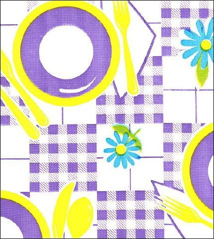 Picnic Purple Yellow Oilcloth