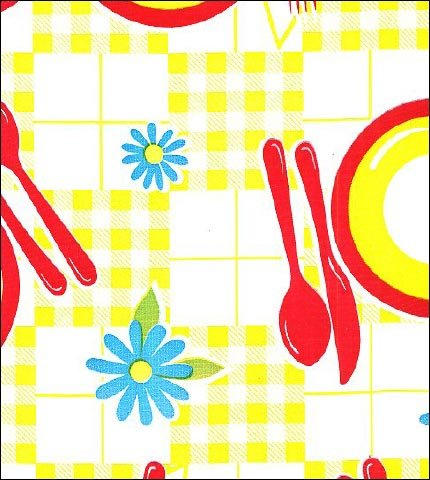 Picnic Yellow Red Oilcloth
