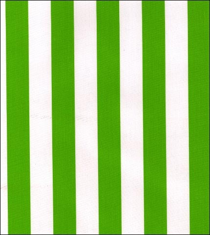 Stripe Lime Oilcloth Fabric