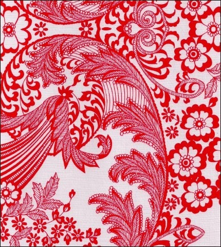 Toile Red Oilcloth