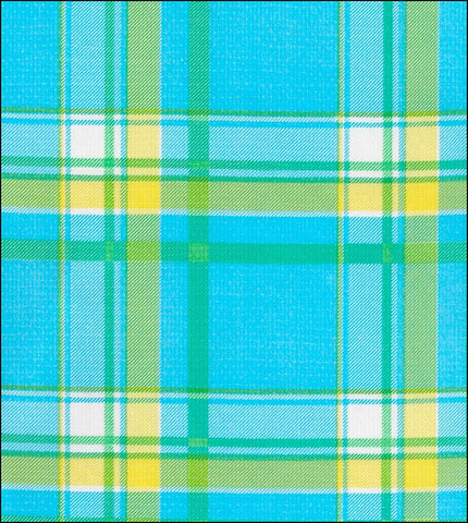 Plaid Blue and Yellow Roll