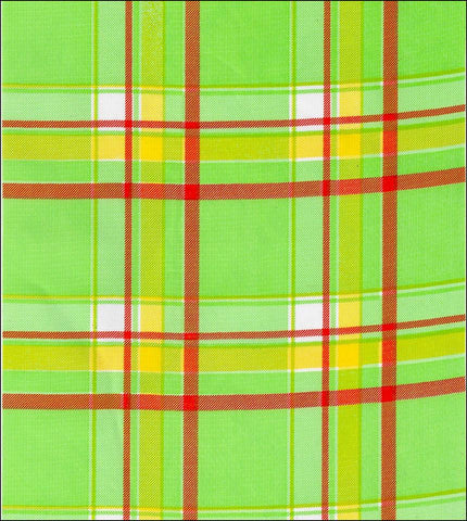Plaid Lime and Orange Roll