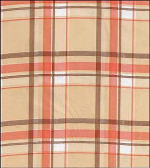 Plaid Brown and Orange