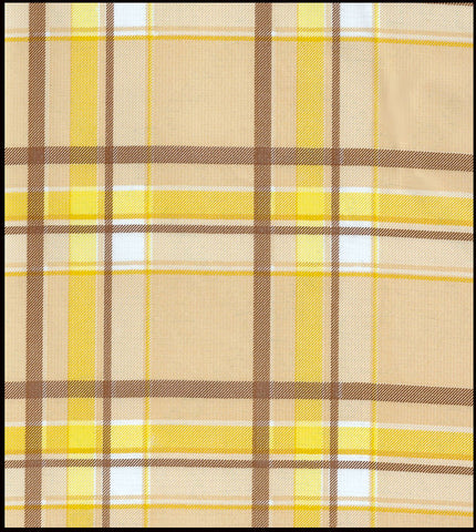 Plaid Brown and Yellow