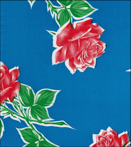 Vintage Rose on Blue