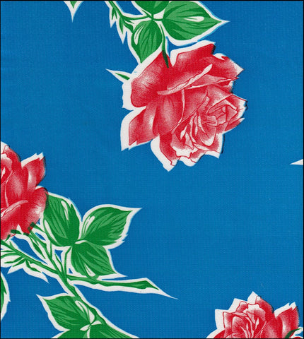 Vintage Rose on Blue Roll