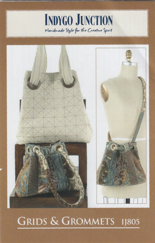 Grids and Grommets Bag Pattern