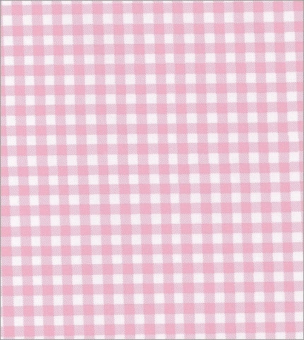 Gingham -  Pink Oilcloth