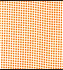 Gingham . Mini Orange Oilcloth Fabric