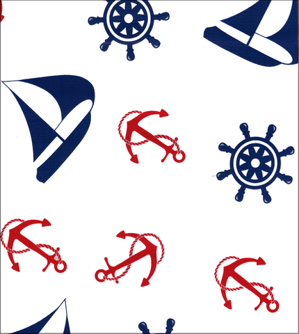 Nautical Navy and Red Oilcloth