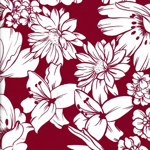 Chelsea Flowers on Burgundy