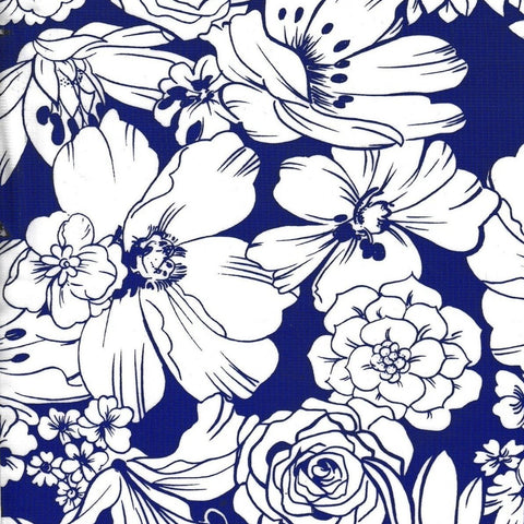 Chelsea Flowers on Navy