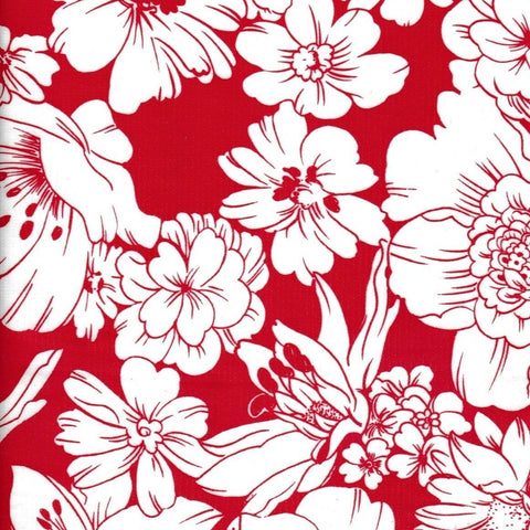 Chelsea Flowers on Red