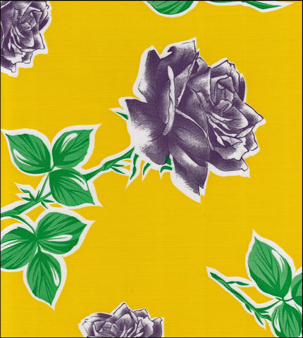 Vintage Rose on Yellow