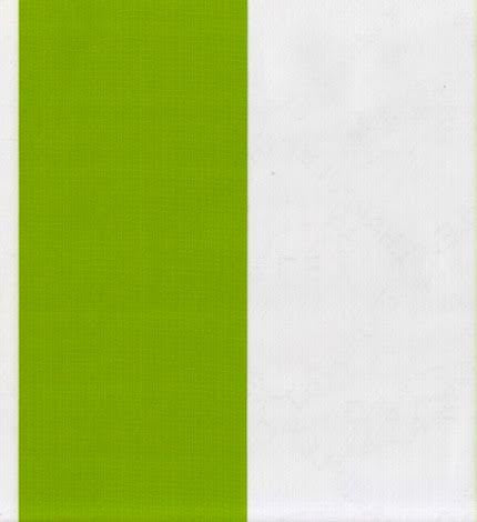Fat Stripe Lime Oilcloth Fabric