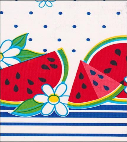 Watermelon Blue Oilcloth Roll
