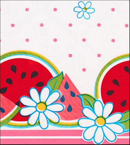 Watermelon Pink Oilcloth