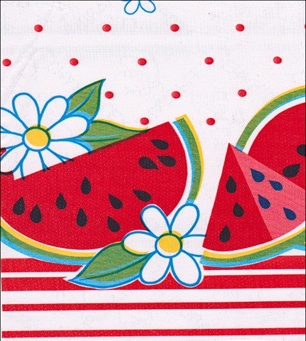 Watermelon Red Oilcloth