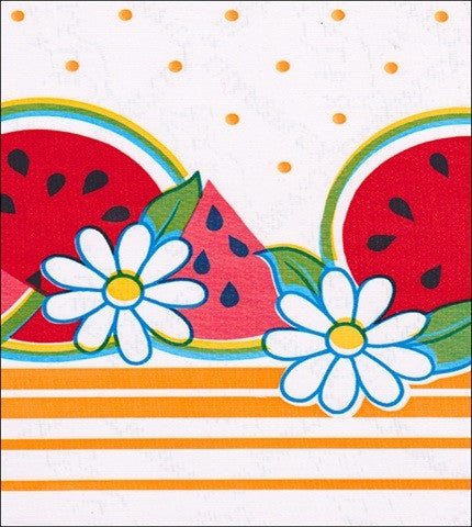 Watermelon Yellow Oilcloth
