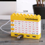 4-Port USB Hub Blocks Calendar