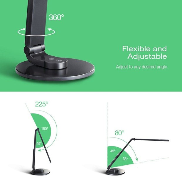 LED Desk Lamp Touch & Temperature (Color) Control