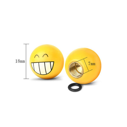 Emoji Tire Valves