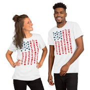 US flag in icons.  Short-Sleeve T-Shirt
