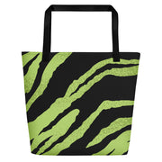 Green Tiger Beach Bag with small V[o]A logo on inside pocket